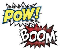 Prop Shop Pros Super Hero Photo Booth Props Pow & Boom