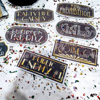 Gatsby Signs | Roaring 20's Signs | Photo Booth Props | Prop Signs