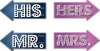 Prop Shop Pros Party Glitz Photo Booth Props  His & Hers Mr & Mrs