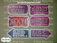 Party Signs | Glitz Signs | Photo Booth Props | Prop Signs