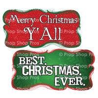 Christmas Signs   Traditional Part #2   Photo Booth Props