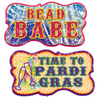 Prop Shop Pros Mardi Gras Photo Booth Props Bead Babe & Time To Pardi Gras