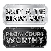 Prom Signs | Prom Complete Bundle | Photo Booth Props