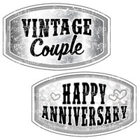 Prop Shop Pros Anniversary Photo Booth Props Vintage Couple & Happy Anniversary