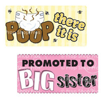 Baby Shower Signs | B-STOCK | Photo Booth Props | Prop Signs