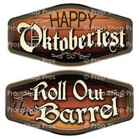 Prop Shop Pros Oktoberfest Photo Booth Props Happy Oktoberfest & Roll Out The Barrel
