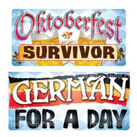 Prop Shop Pros Oktoberfest Photo Booth Props Oktoberfest Survivor & German For A Day
