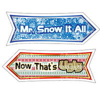 Prop Shop Pros Christmas Photo Booth Props Mr Snow It All & Now That's Ugly