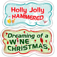 Prop Shop Pros Christmas Photo Booth Props Holly Jolly Hammered & Dreaming Of A Wine Christmas