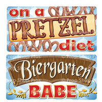 Oktoberfest Signs | B-STOCK | Photo Booth Props | Prop Signs