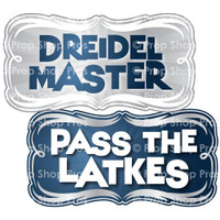 Hanukkah Signs | B-STOCK | Photo Booth Props | Prop Signs