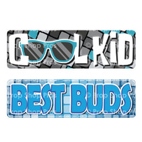 Prop Shop Pros Kid Friendly Photo Booth Props Cool Kid & Best Buds