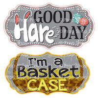 Prop Shop Pros Easter Photo Booth Props Good Hare Day & I'm A Basket Case