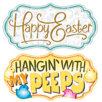 Prop Shop Pros Easter Photo Booth Props Happy Easter & Hangin With My Peeps