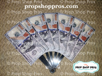 Prop Shop Pros Money Fan Photo Booth Props Front Side