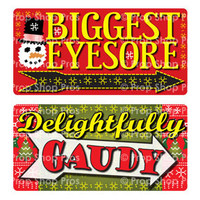 Prop Shop Pros Ugly Sweater Photo Booth Props Biggest Eyesore & Delightfully Guady