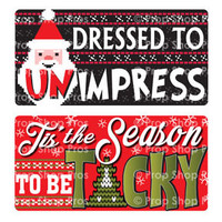 Prop Shop Pros Ugly Sweater Photo Booth Props Dressed To Impress & Tis The Season To Be Tacky