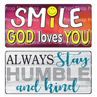 Prop Shop Pros Faith Photo Booth Props Smile God Loves You & Always Stay Humble & Kind