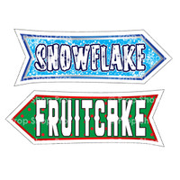 Prop Shop Pros Christmas Photo Booth Props Snowflake & Fruitcake