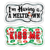 Prop Shop Pros Christmas Photo Booth Props I'm Having A Meltdown & Kiss Me