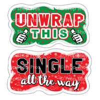 Prop Shop Pros Christmas Photo Booth Props Unwrap This & Single All The Way
