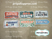 Christmas Signs | Traditional Part #4 | Photo Booth Props | Prop Signs