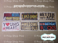 Birthday Signs | Any Age | Photo Booth Props | Prop Signs