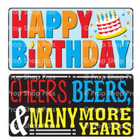 Prop Shop Pros Birthday Photo Booth Props Happy Birthday & Cheers, Beers & Many More Years