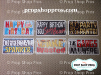 Birthday Signs | Any Age | B-STOCK | Photo Booth Props | Prop Signs