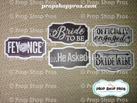 Bridal Show Signs | Wedding Fair | Engagement | Photo Booth Props | Prop Signs