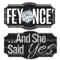 Prop Shop Pros Wedding Fair Photo Booth Props Feyonce & And She Said Yes