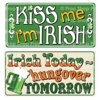 Prop Shop Pros St Patricks Day Photo Booth Props Kiss Me I'm Irish & Irish Today Hungover Tomorrow
