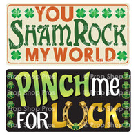 Prop Shop Pros St Patricks Day Photo Booth Props You Shamrock My World & Pinch Me For Luck