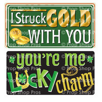 Prop Shop Pros St Patricks Day Photo Booth Props I Struck Gold With You & You're Me Lucky Charm