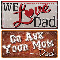 Fathers Day Signs   B-STOCK   Photo Booth Props   Prop Signs