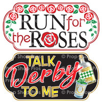 Prop Shop Pros Kentucky Derby Photo Booth Props Run For The Roses & Talk Derby To Me