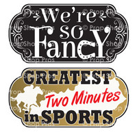 Prop Shop Pros Kentucky Derby Photo Booth Props We're So Fancy & Great Two Minutes In Sports