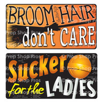 Prop Shop Pros Halloween Photo Booth Props Broom Hair Don't Care & Sucker For The Ladies