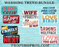 Wedding Signs | Wedding Trend | Photo Booth Props | Prop Signs