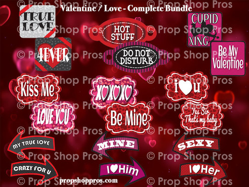 Prop Shop Pros Valentines Photo Booth Props