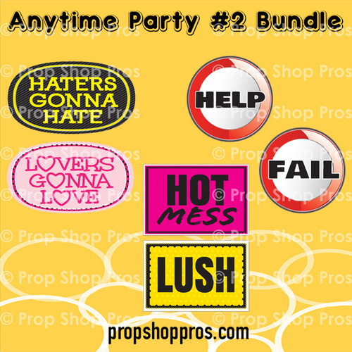 Prop Shop Pros Anytime Party Photo Booth Props 2