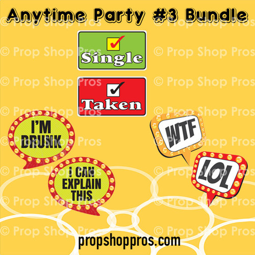 Prop Shop Pros Anytime Party Photo Booth Props 3