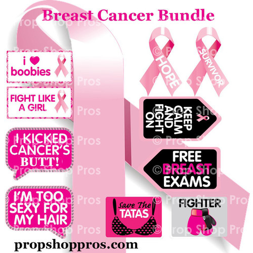 Prop Shop Pros Breast Cancer Photo Booth Props