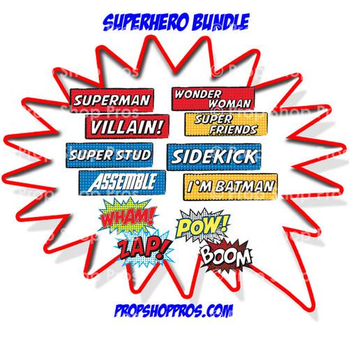 Prop Shop Pros Super Hero Photo Booth Props