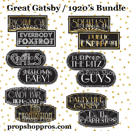 Prop Shop Pros Gatsby Photo Booth Props