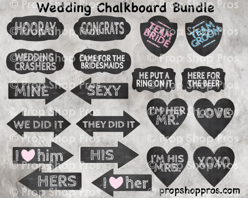 Prop Shop Pros Wedding Photo Booth Props Chalkboard