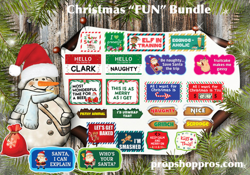 Christmas Signs | Fun Bundle | Photo Booth Props | Prop Signs