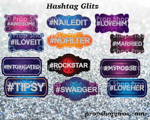 Prop Shop Pros Hashtag Glitz Photo Booth Props