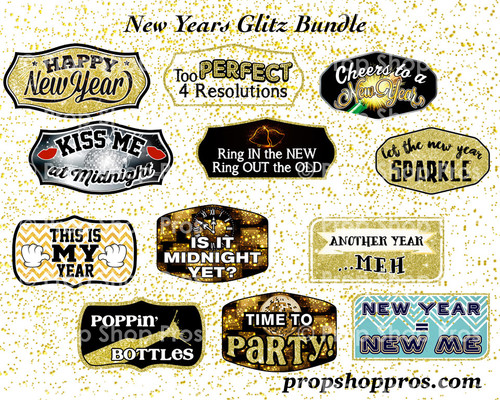 Prop Shop Pros New Years Photo Booth Props
