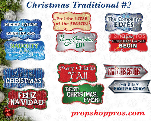 Christmas Signs | Traditional Part #2 | B-STOCK | Photo Booth Props | Prop Signs